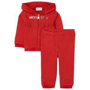 Moncler Logo Huvtröjset Rött 9-12 mån