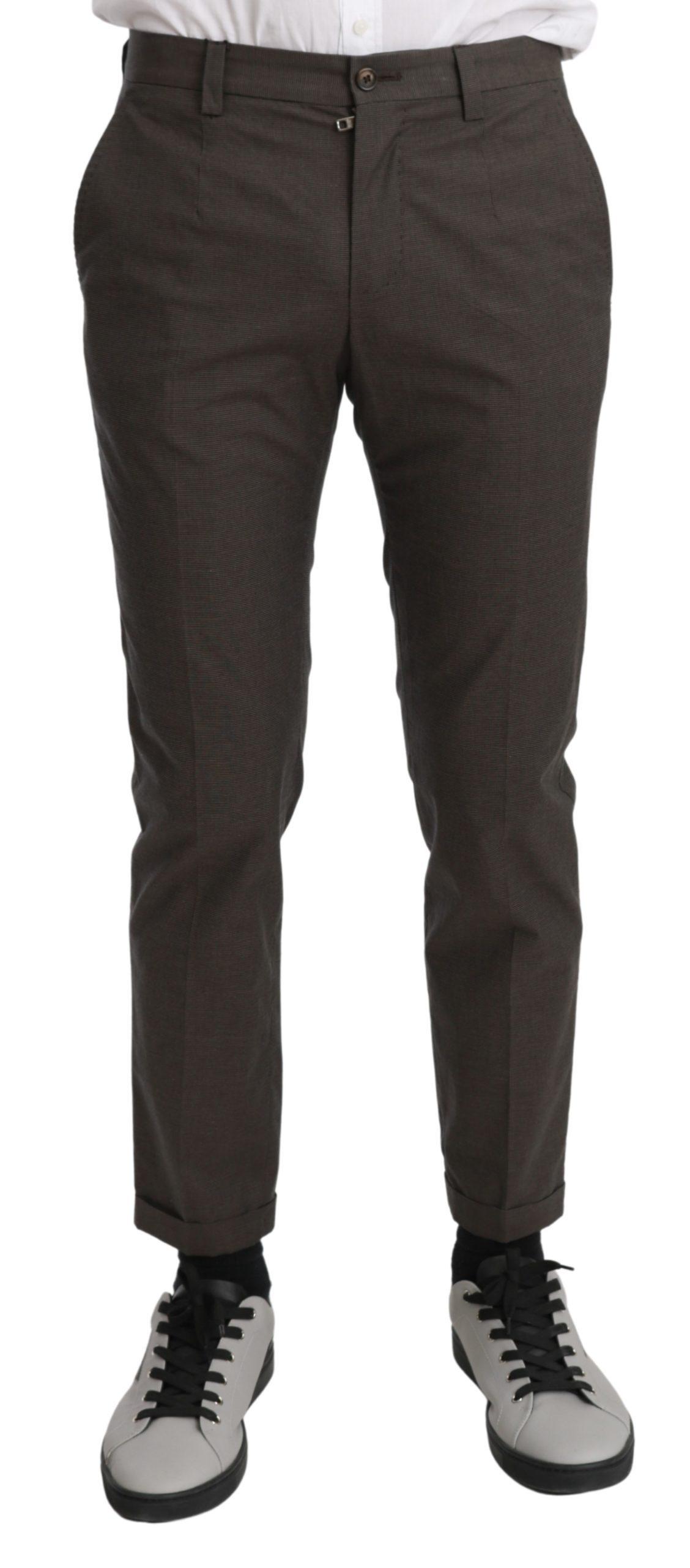 Dolce & Gabbana Men's Casual Cotton Trouser Brown PAN70965 - IT44   XS