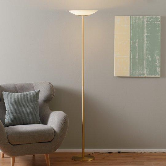 Ylös suunnattu Mika-LED-valaisin mattamessinkiä