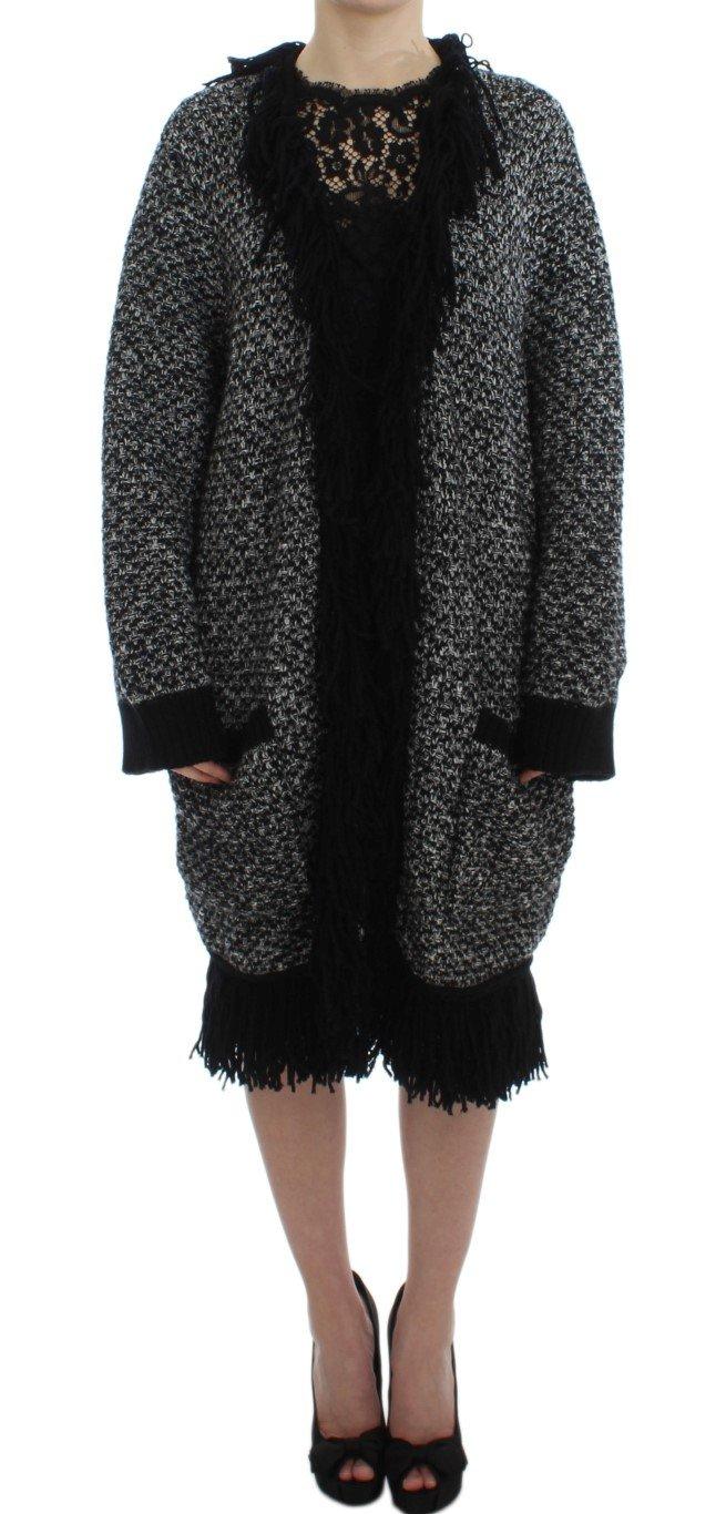 Dolce & Gabbana Women's Long Cape Cardigan Black DRE10022 - IT46   L