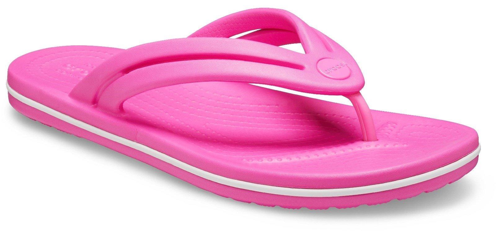 Crocs Women's Crocband Flip Flop Various Colours 30612 - Electric Pink 3