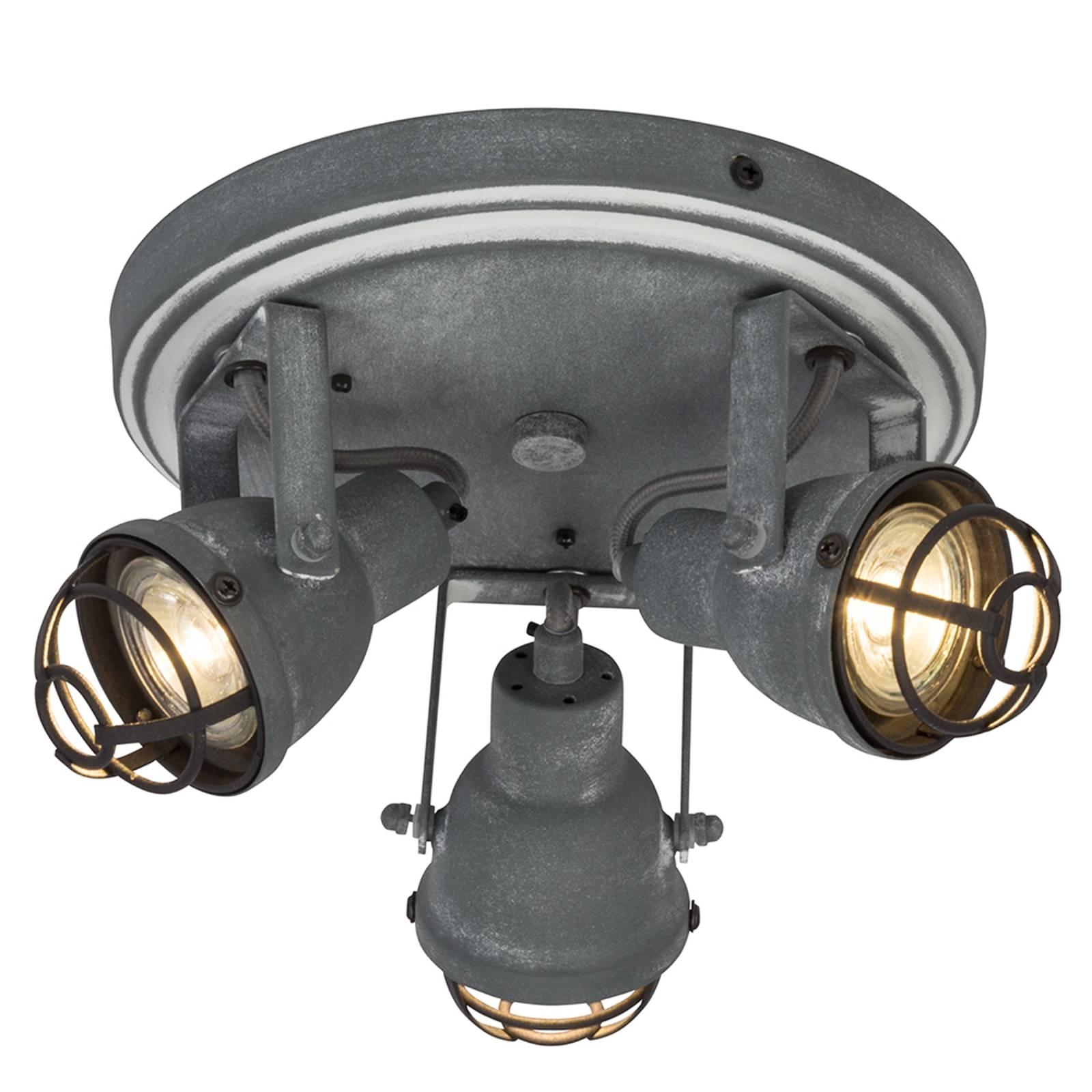 Teollinen design – 3-os. Bente-LED-kattovalaisin