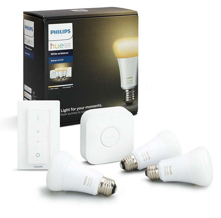 Philips Hue - E27 Starter kit (3-Pack) - White Ambiance - Bluetooth