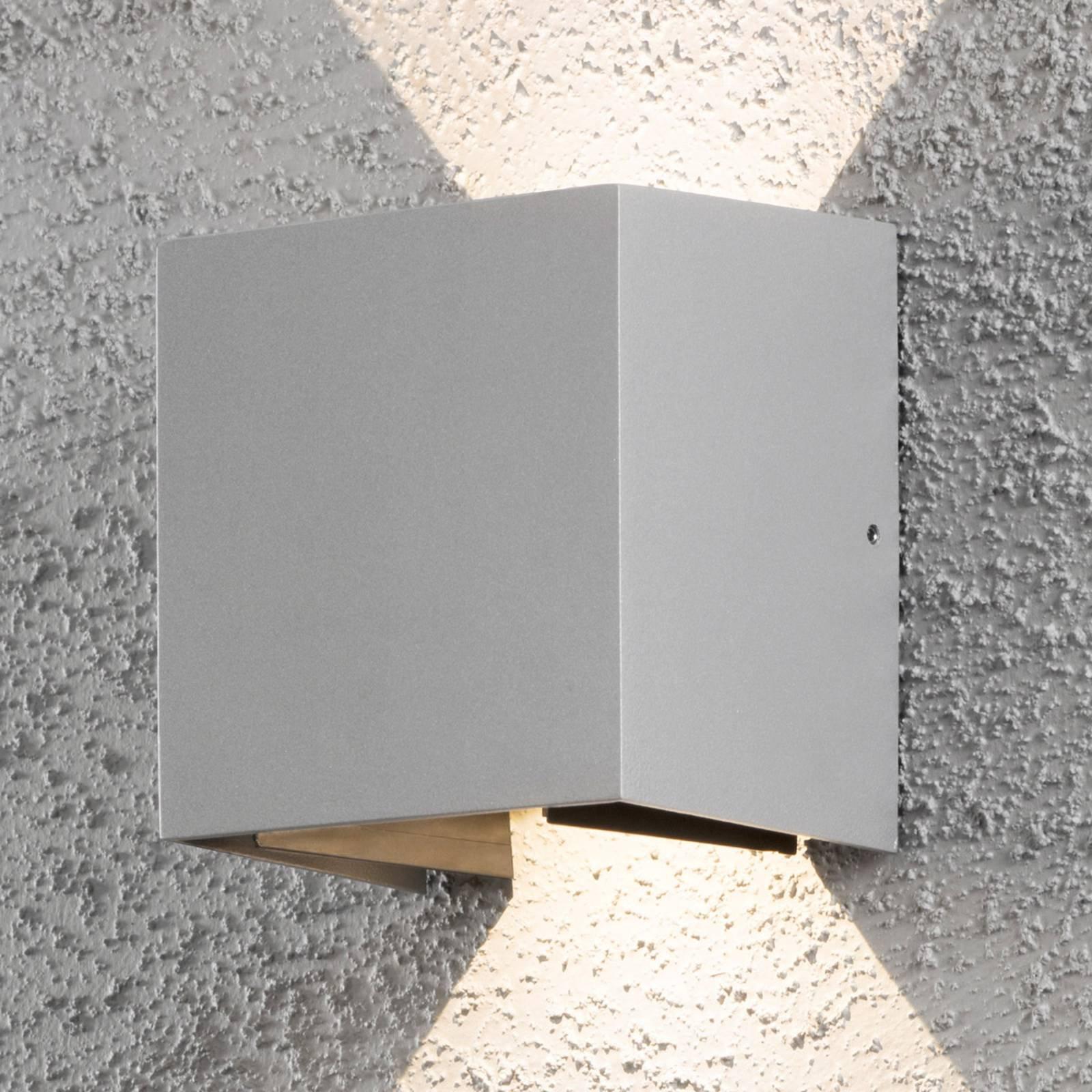 Utendørs LED-vegglampe Cremona 13 cm grå