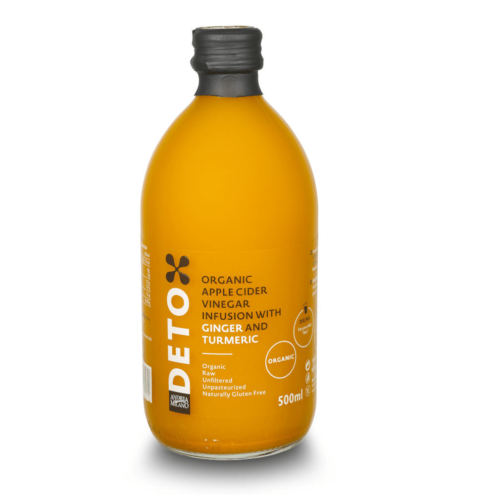 Deto Apple Cider Vinegar Infusion with Ginger and Turmeric 500ml by Andrea Milano