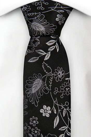 Silke Guttelsips junior, Sølvfargede blomster på en svart base, Notch MAYAR