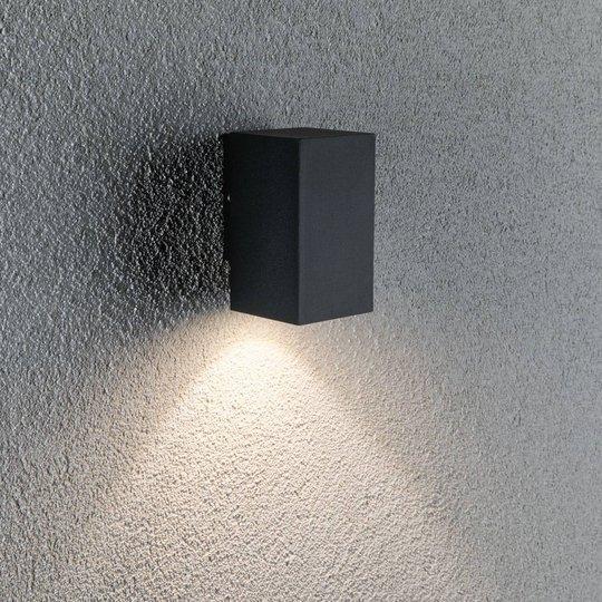 Paulmann Flame-1-lamppuinen 10,3cm antrasitti
