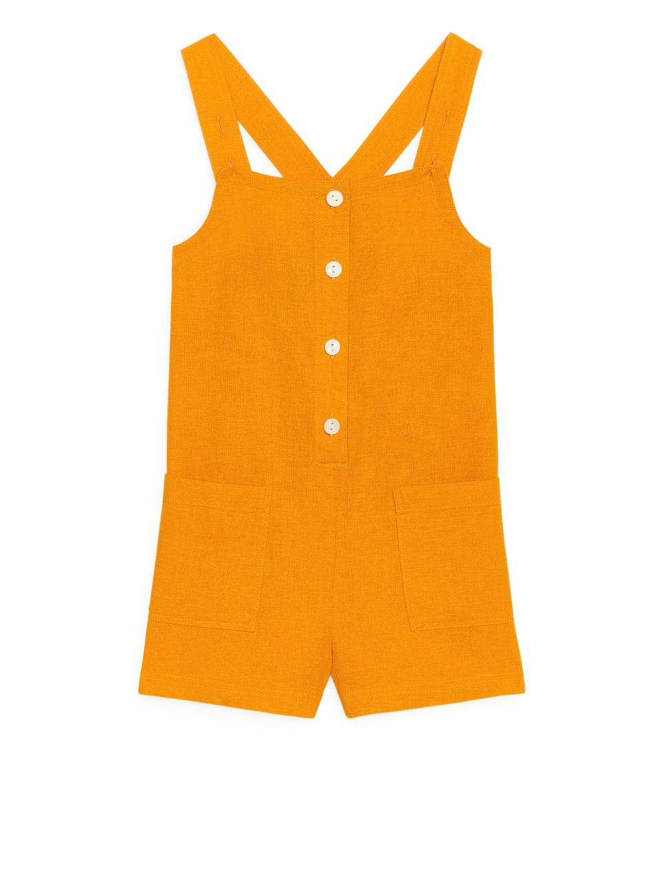 Buttoned Jumpsuit - Yellow