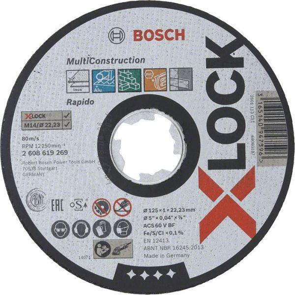 Bosch Multi Construction Kappskive X-LOCK 115 × 1 × 22,23 mm