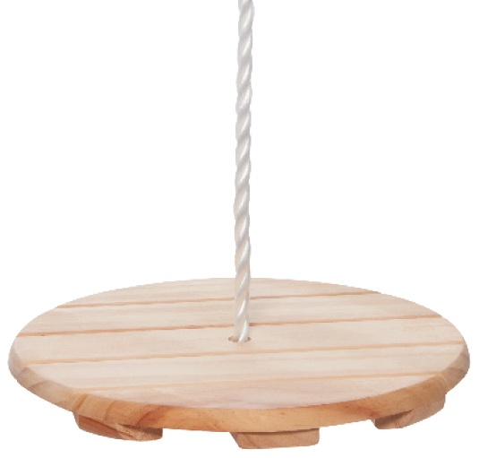 Happy People - Round Wooden Swing (I-73282)