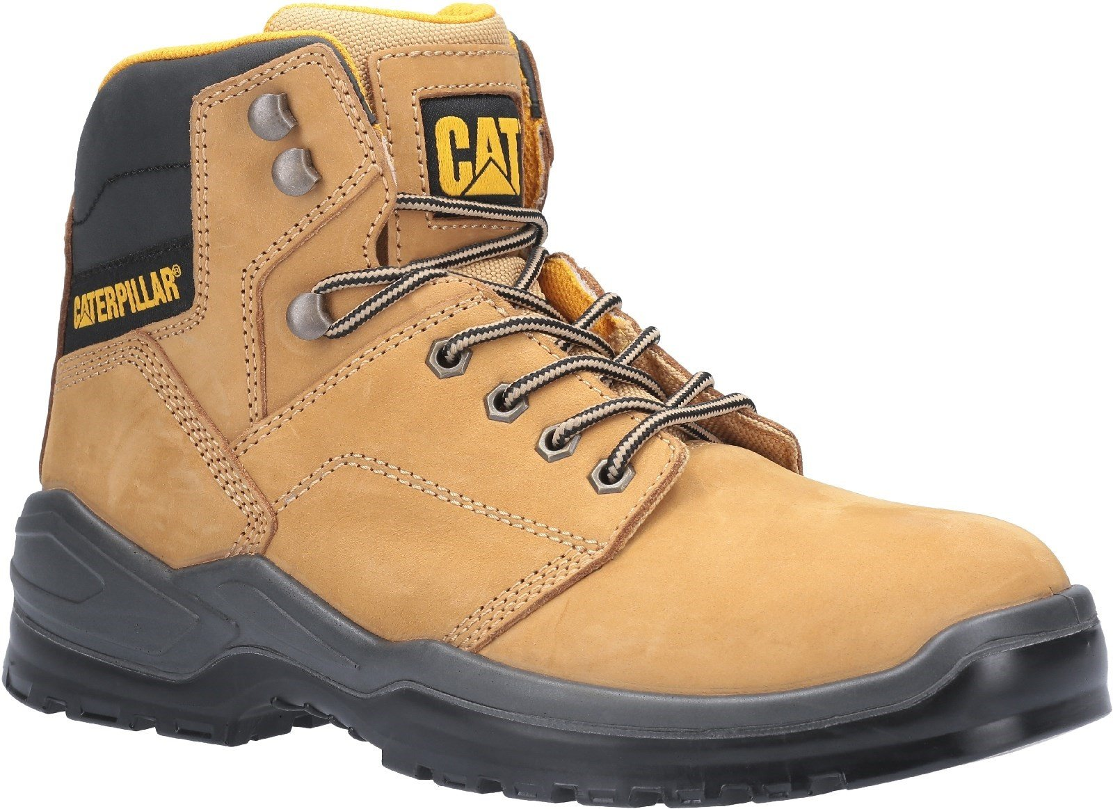 Caterpillar Men's Striver Lace Up Injected Safety Boot Honey 30703 - Honey 6