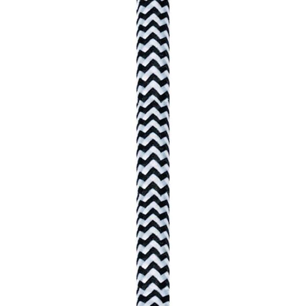 Nordlux 73049913 Tekstiilijohto 25 metriä Musta/valkoinen