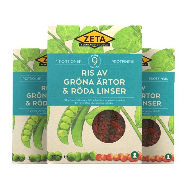 Ris Gröna Ärtor & Röda Linser 3-pack - 55% rabatt
