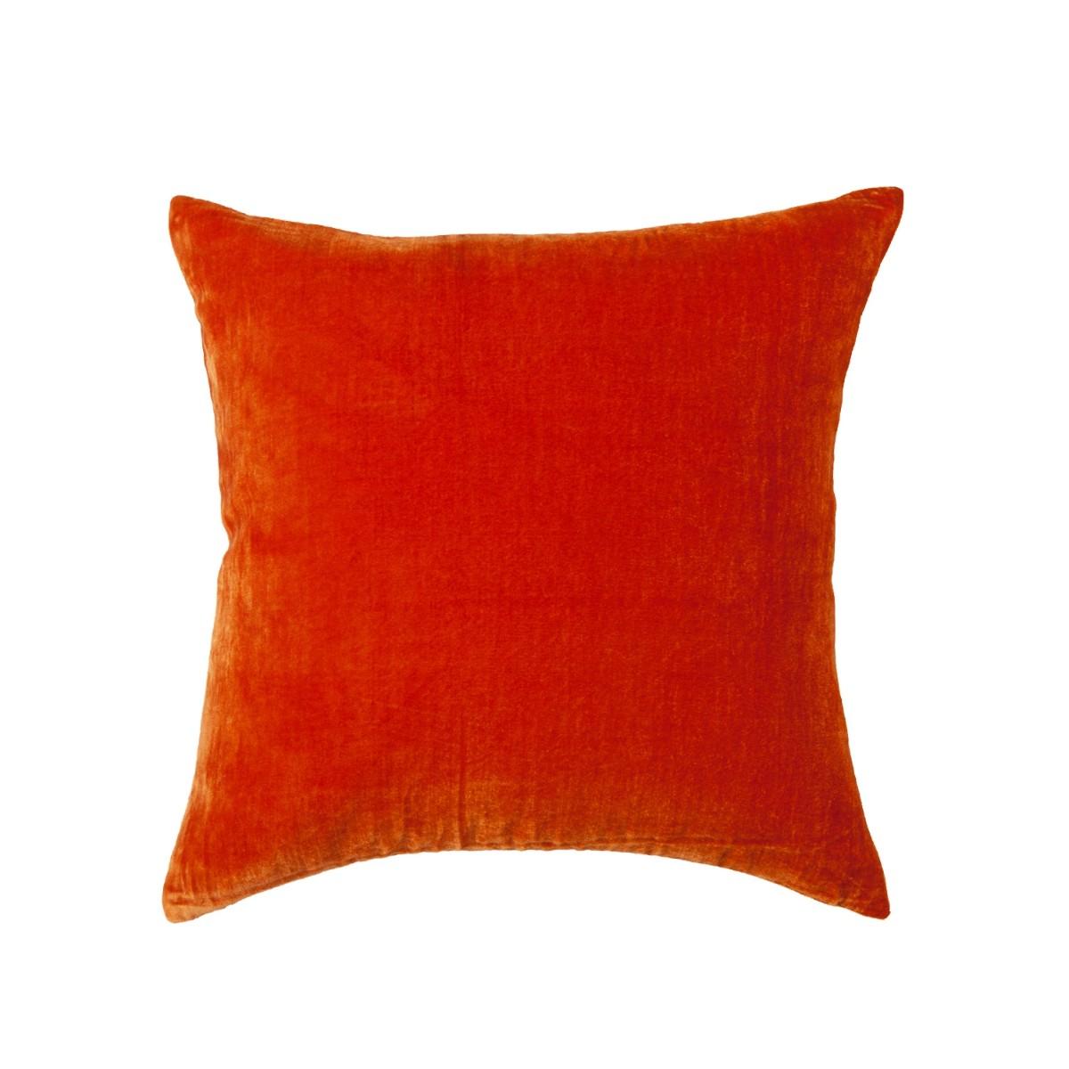 William Yeoward  Paddy Velvet Cushion Blood Orange