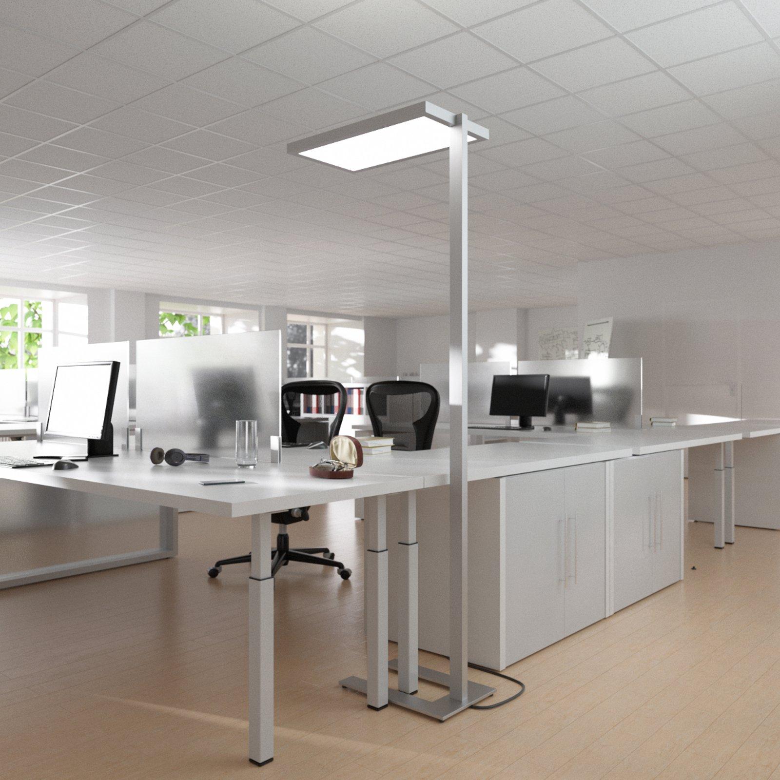 Gulvlampe Oli til kontoret, med LED-lys og dimmer
