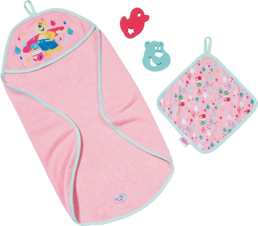 Baby Born - Bath Hooded Towel Set (827444)