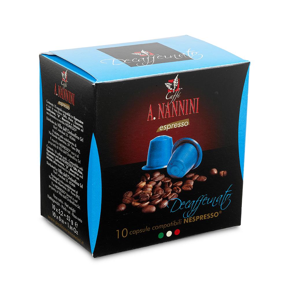 Decaff Nespresso Capsules 10pcs 60g by Nannini