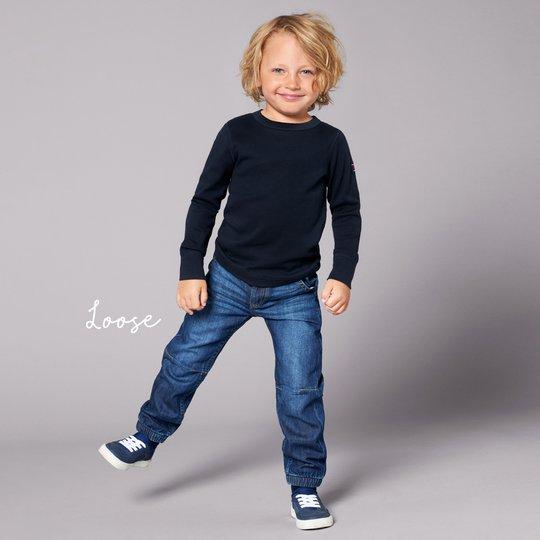 Jeans loose blå denim