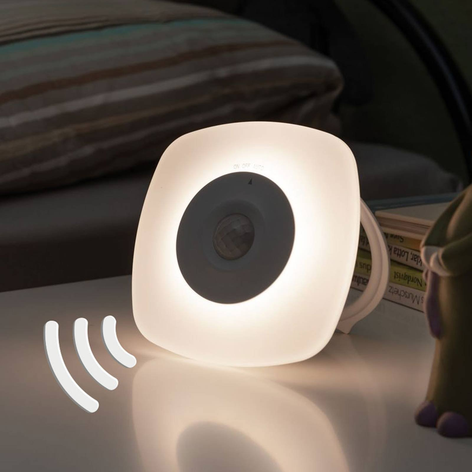 Paulmann Viby LED-nattlys, mobil, kantet