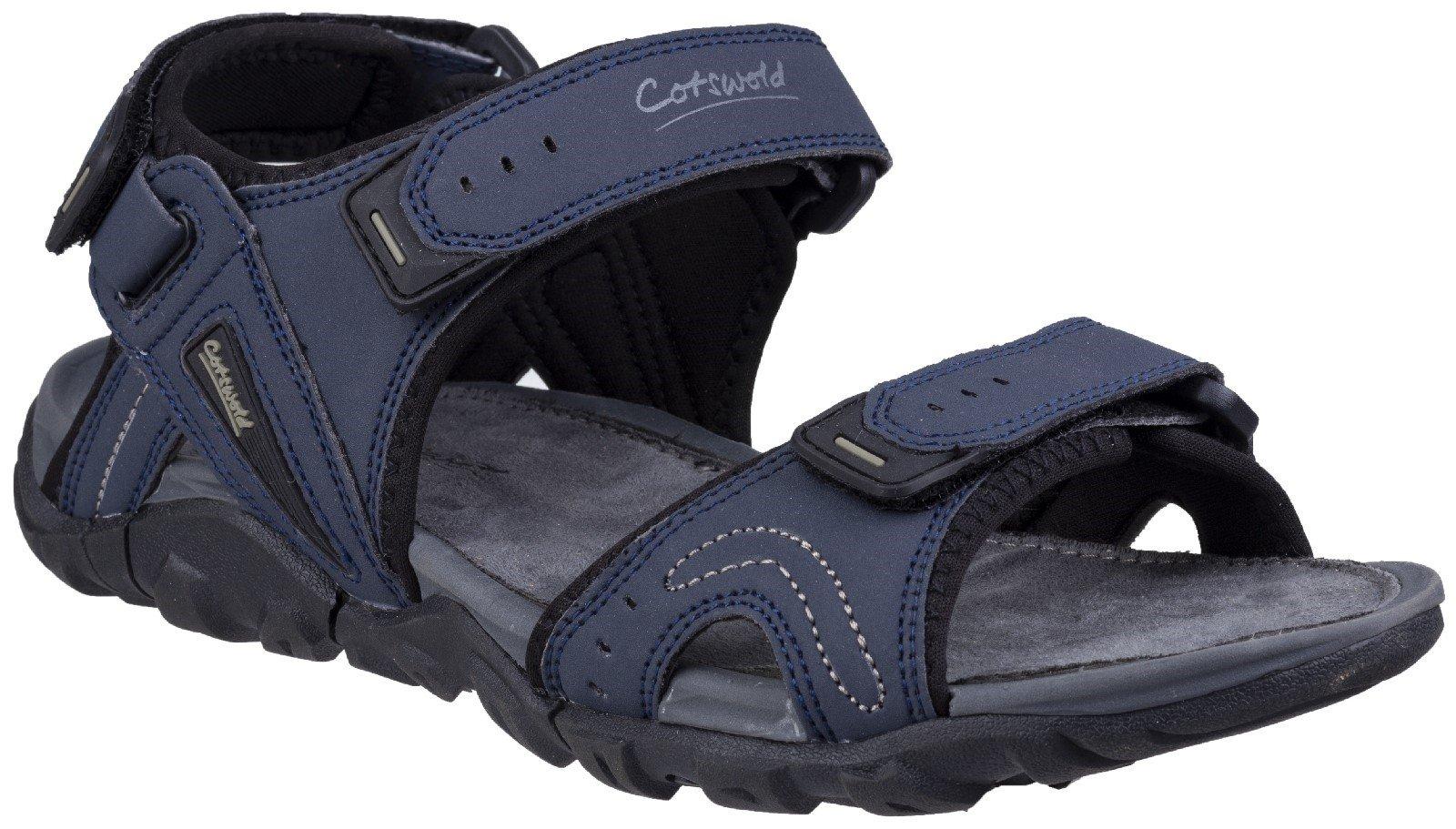 Cotswold Men's Rodmarton Touch Fasten Walking Sandal Various Colours 28243 - Navy/Grey 7