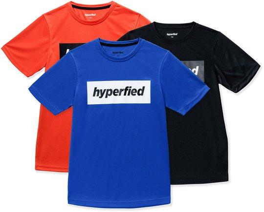 Hyperfied Edge T-Shirt 3-pack, Black/Blue/Koi 120