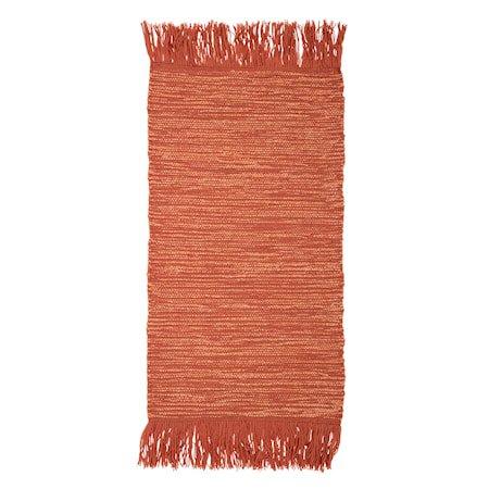 Teppet Wool Orange 120 x 60 cm