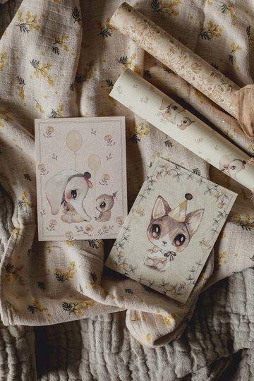 Mrs Mighetto Invitasjonskort, Ellie and Meow