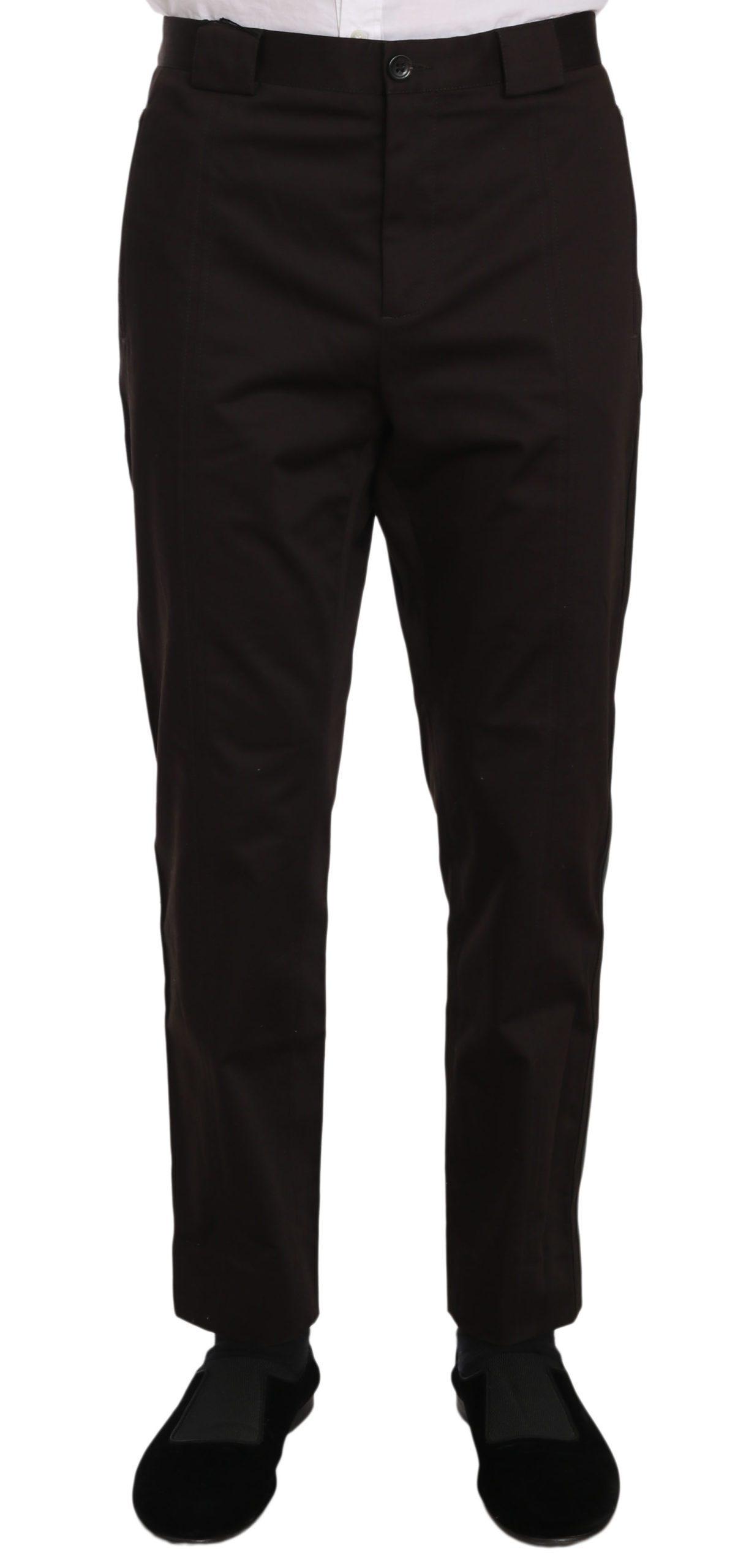 Dolce & Gabbana Men's Cotton Stretch Formal Trouser Purple PAN61335 - IT50   L