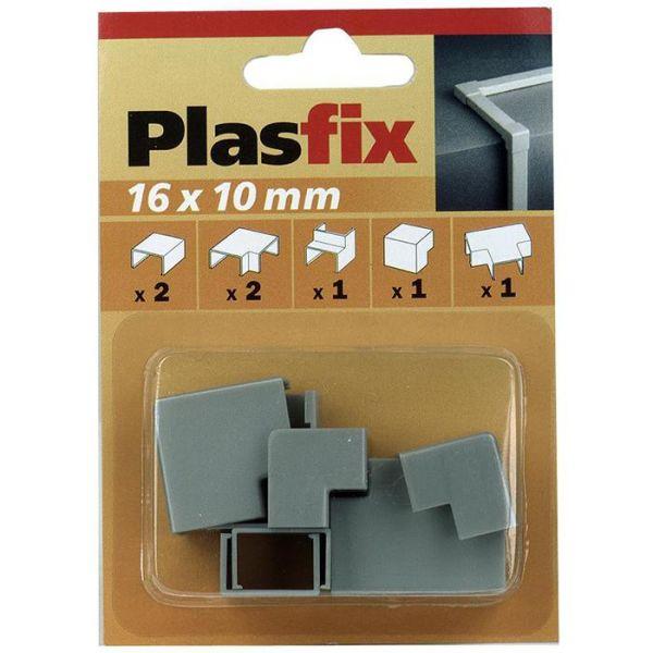 Plasfix 3420-7G Skjøte- og hjørnebiter til Plasfix, 16 x 10 mm Aluminiumsfarget