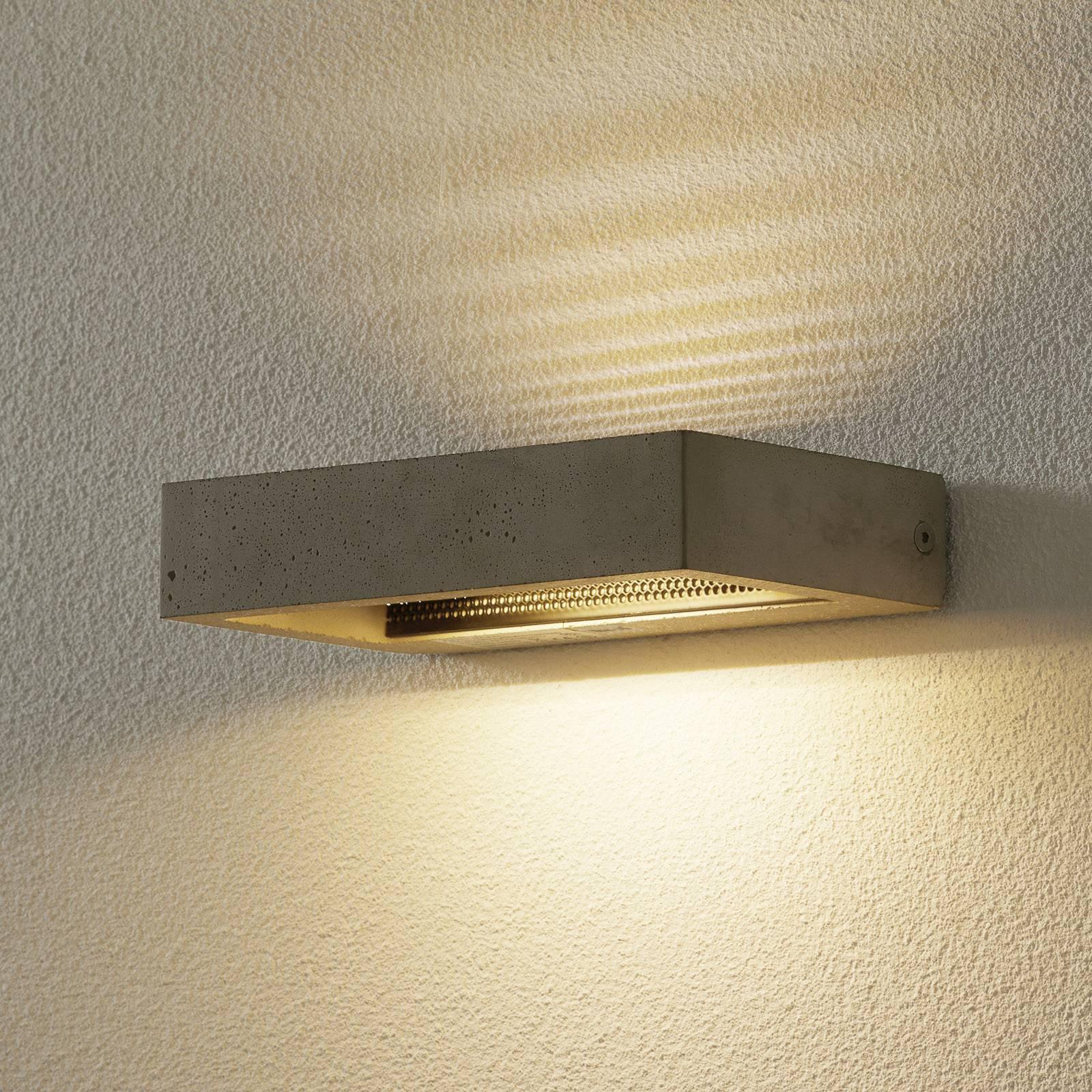 LED-vegglampe Hydro av sement