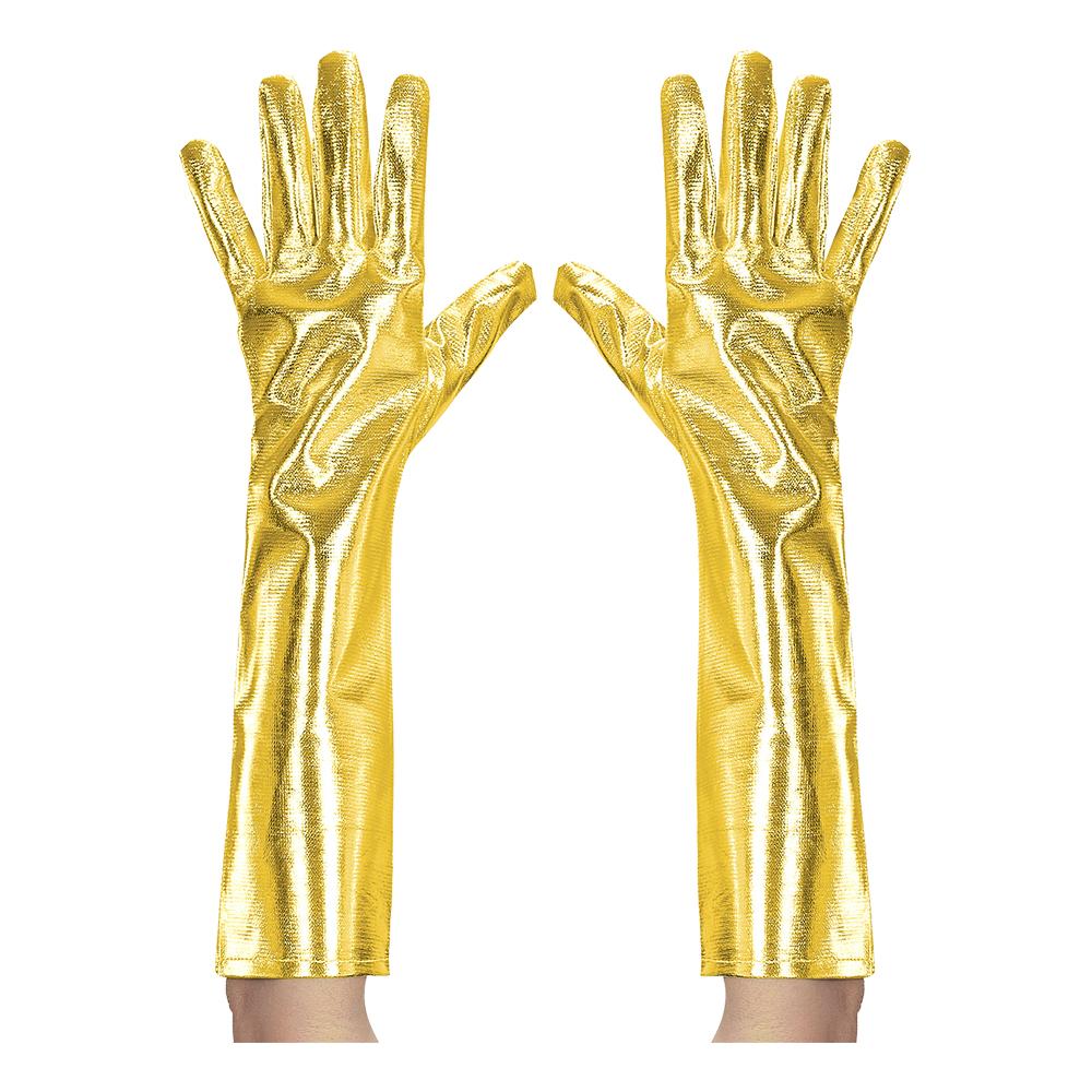 Långa Handskar Guldmetallic - One size