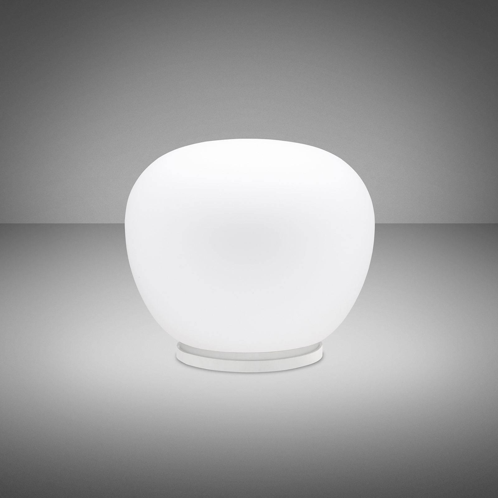 Fabbian Lumi Mochi bordlampe, liggende, Ø 30 cm