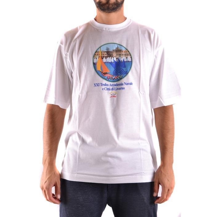 Paul&shark Men's T-Shirt White 163197 - white L