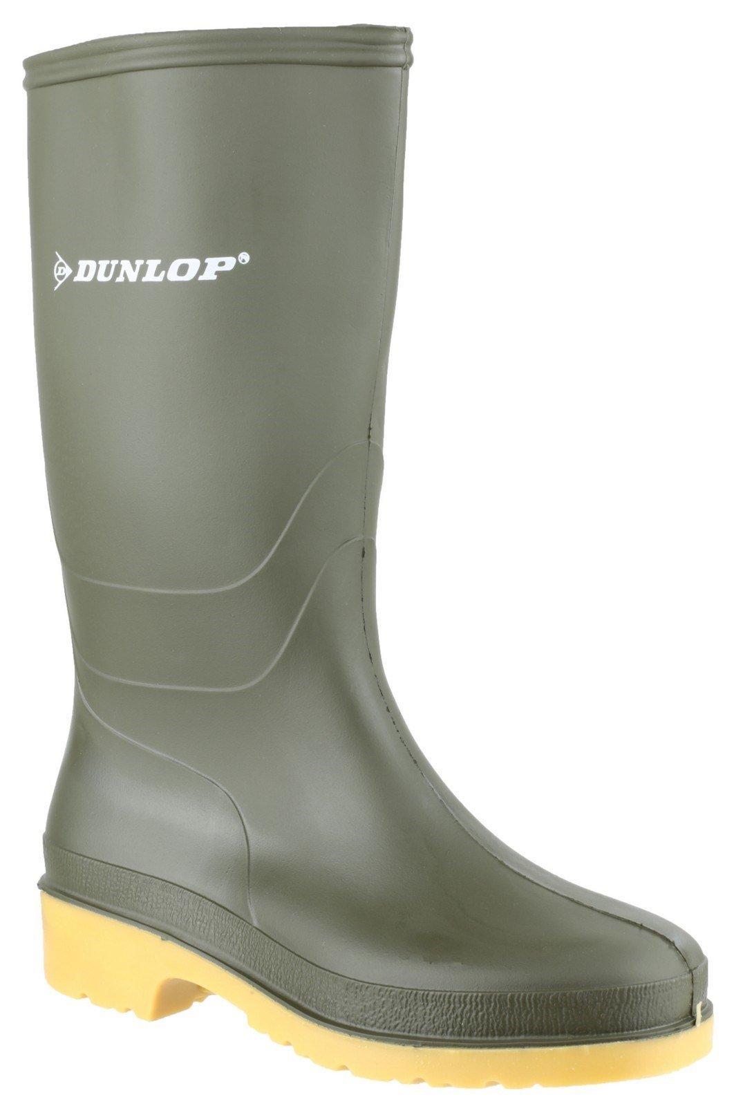 Dunlop Kids Dull Wellington Boots Green 22229 - Green 10 UK
