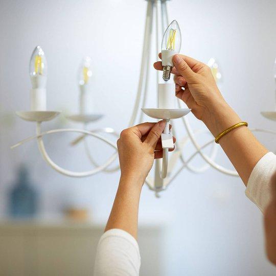 WiZ LED-filament C35 E14 6,5 W 2700-6500K klar