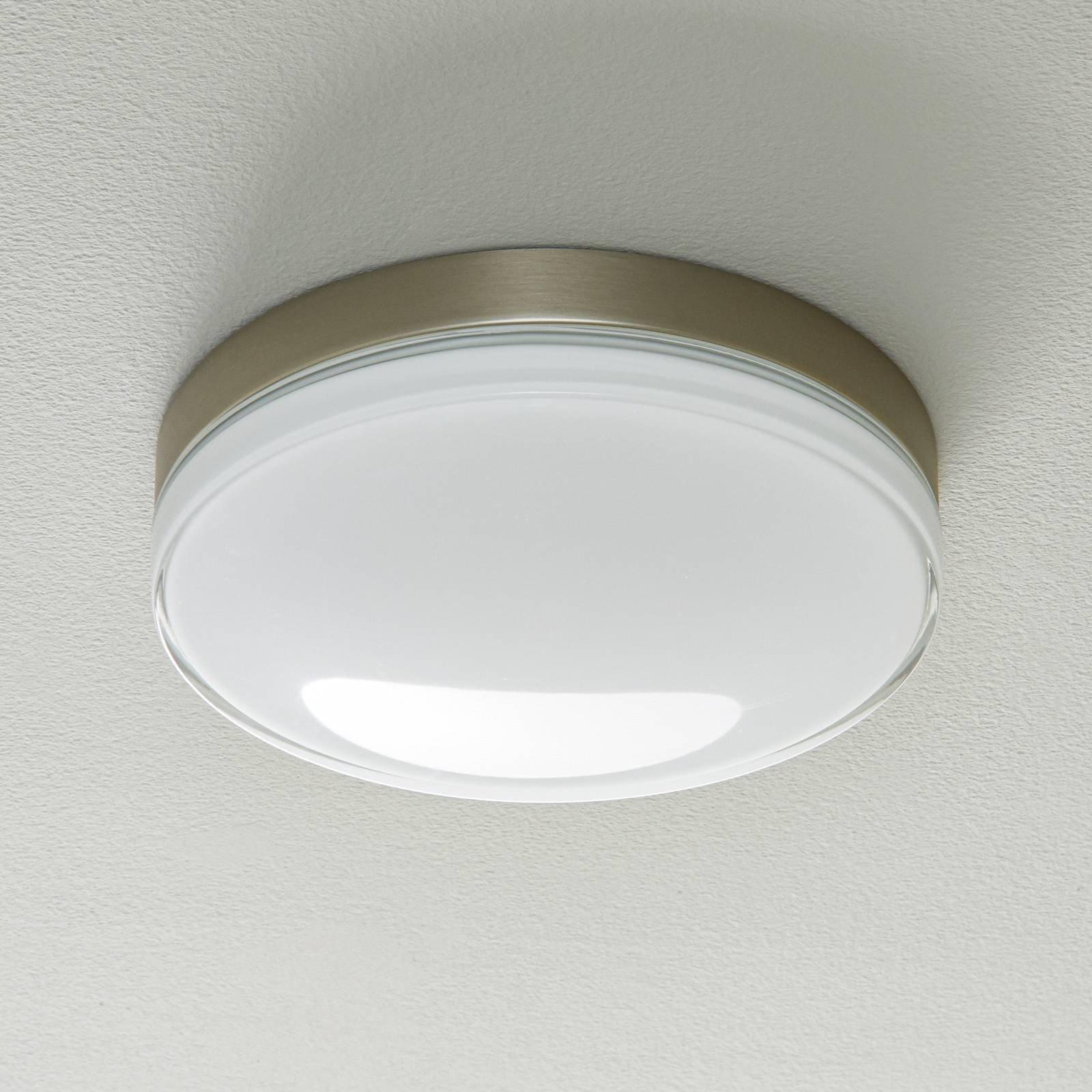 BEGA 12128 LED-taklampe DALI 930 stål, 30,5 cm
