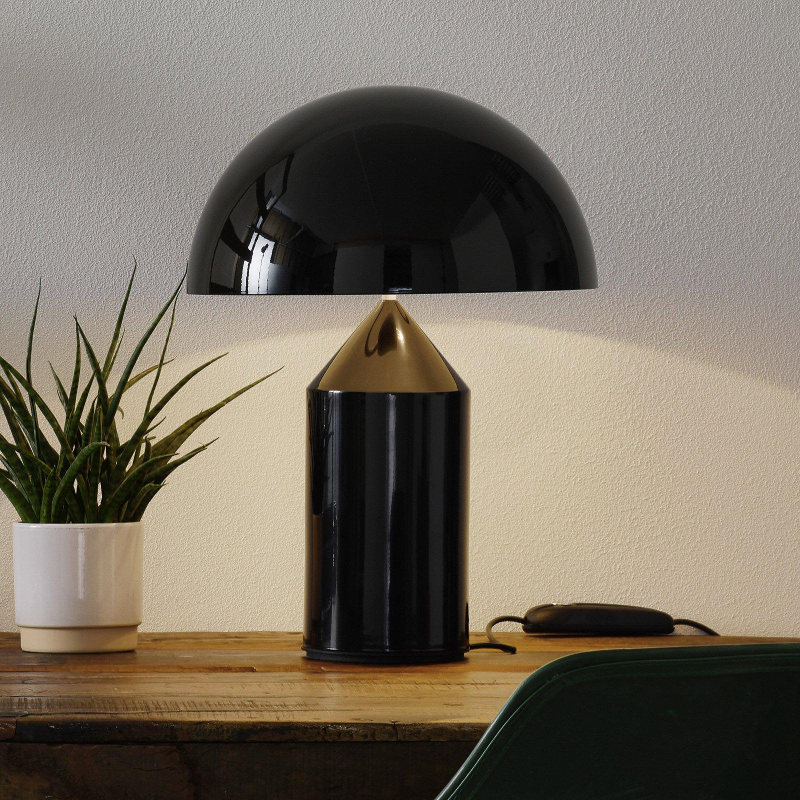 Oluce Atollo - stilig designer-bordlampe, svart