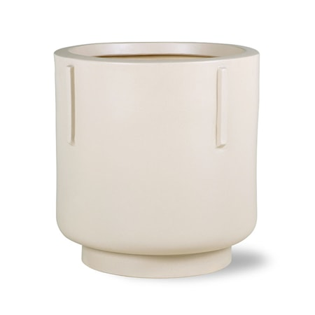Footed Pot Earthenware Cream