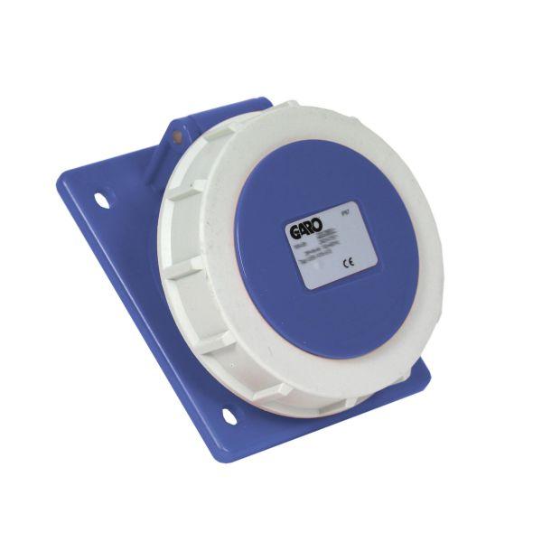 Garo UISV 332-9 S Paneelin ulostulo IP67, 4-napainen, 32A, viisto Sininen, 9 h