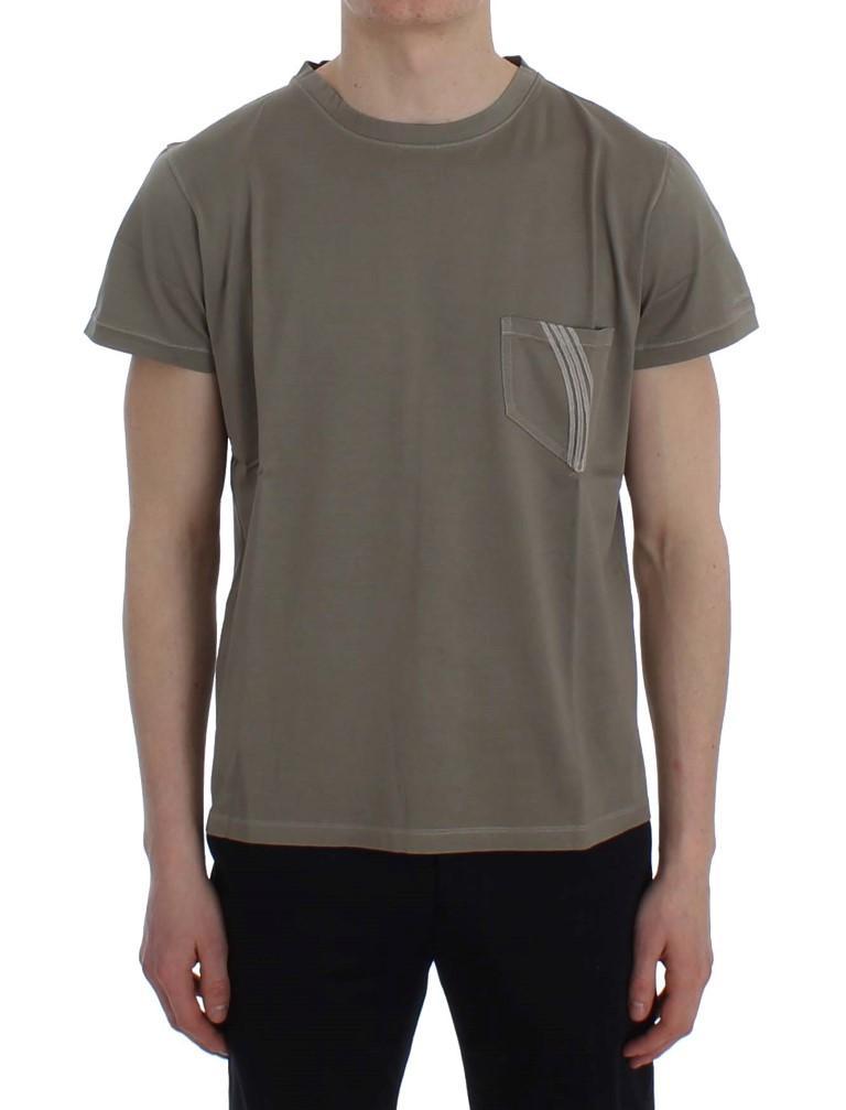 Ermanno Scervino Men's Crew Neck T-Shirt Green SIG30662 - IT48 | M