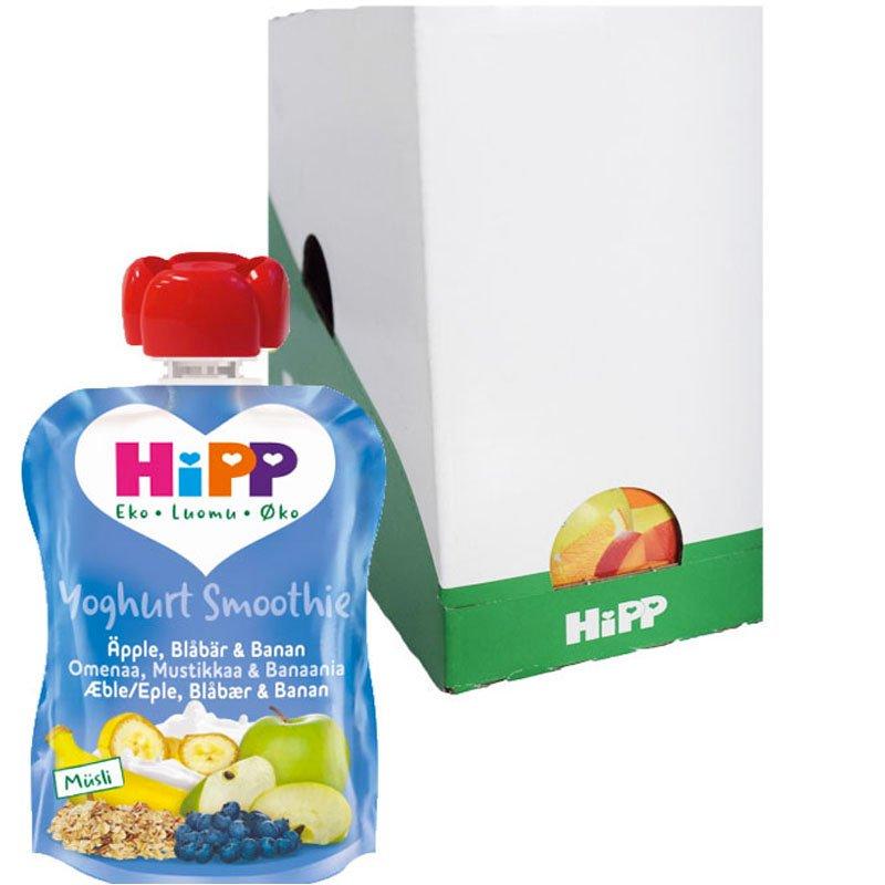 Laatikollinen lastenruokaa, smoothie mustikka ja omena, 6x90g - 26% alennus