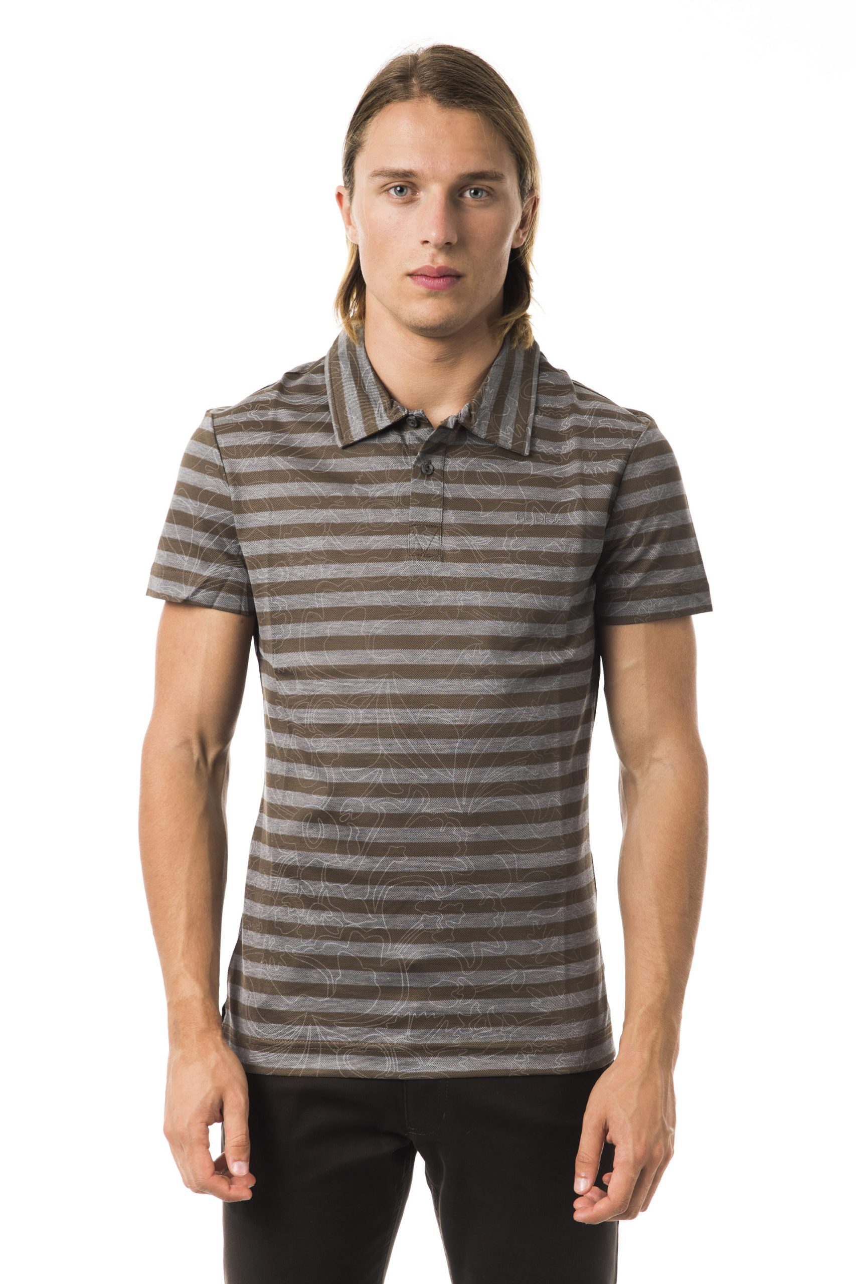 Byblos Men's SS Polo Shirt Gray BY994878 - S