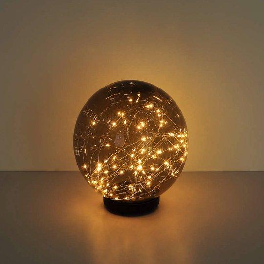 Lindby Tjelle - aurinkokäyttöinen LED-lamppu Ø20cm