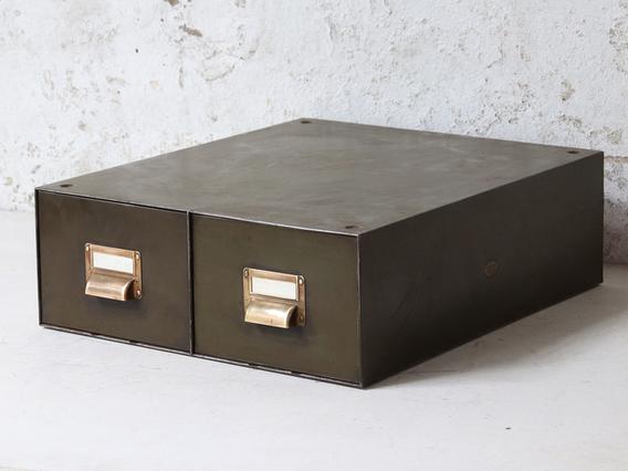 Vintage Index Cabinet Green