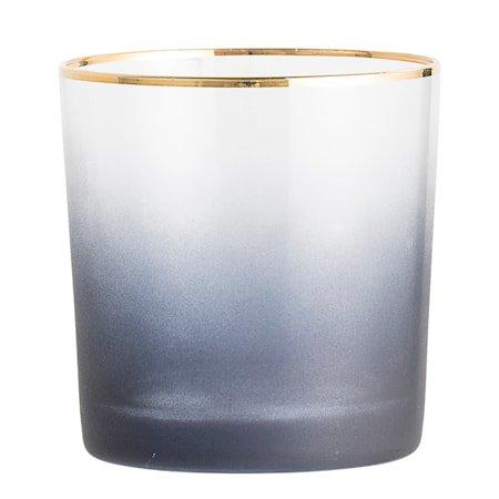 Lyslykt Glass Blå 9x9