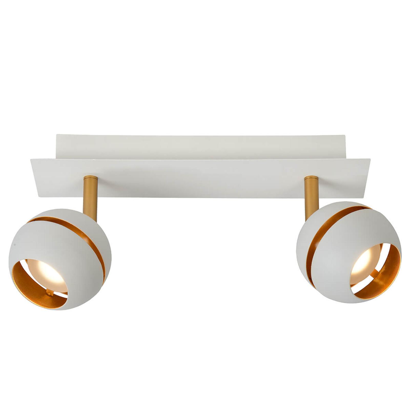 LED-kattovalaisin Binari, 2-lamppuinen, valkoinen
