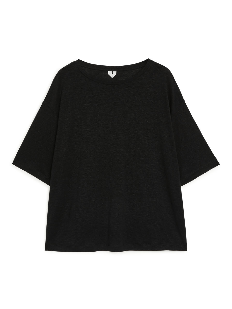 Lyocell-Linen T-shirt - Black