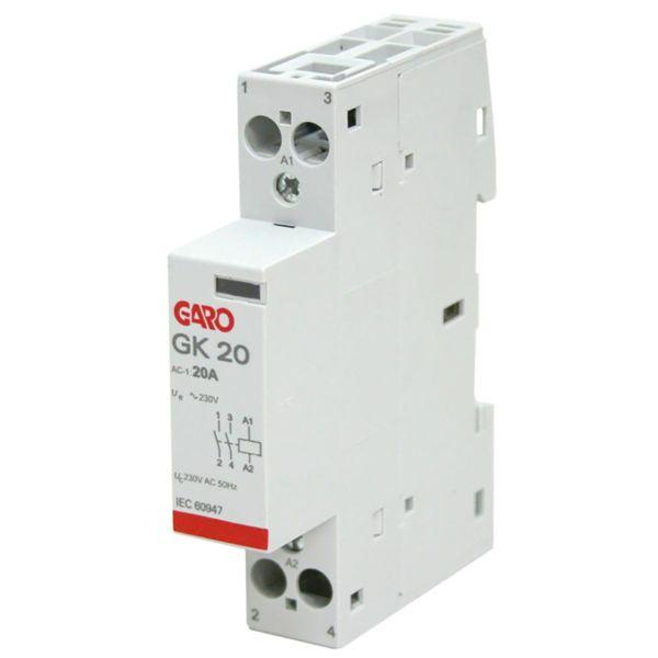 Garo GK20 2NO 230V AC Kontaktor 2 lukket 230V