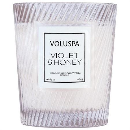 Macaron Doftljus Violet & Honey 40 h