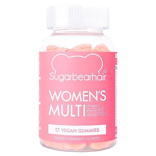 Women's multivitamin, 60 st Sugarbearhair Ravintolisä